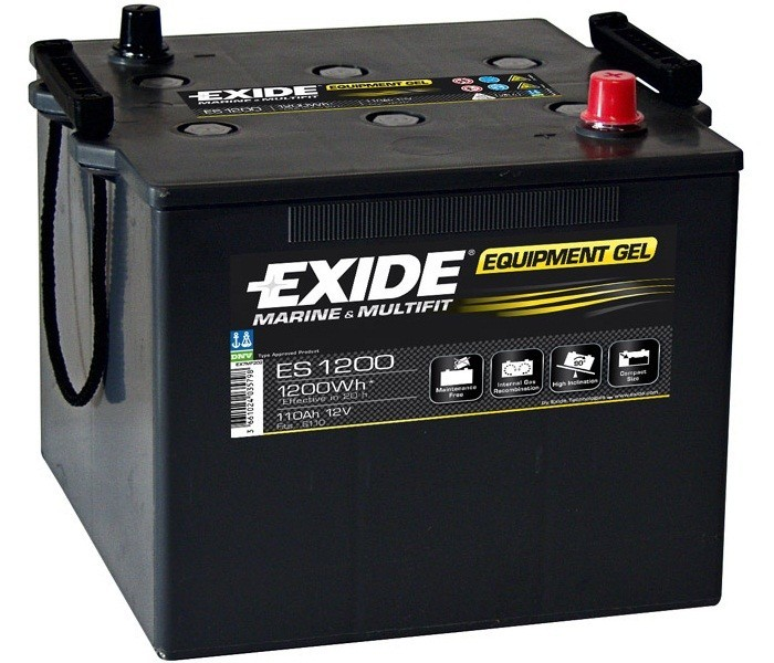 exide equipment gel batterie es 1200 12v 110ah 1200wh akku. Black Bedroom Furniture Sets. Home Design Ideas